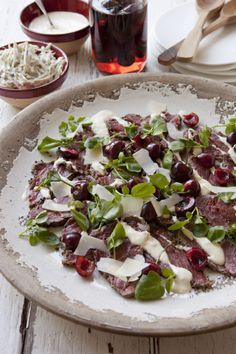 Seared British beef carpaccio from Save With Jamie