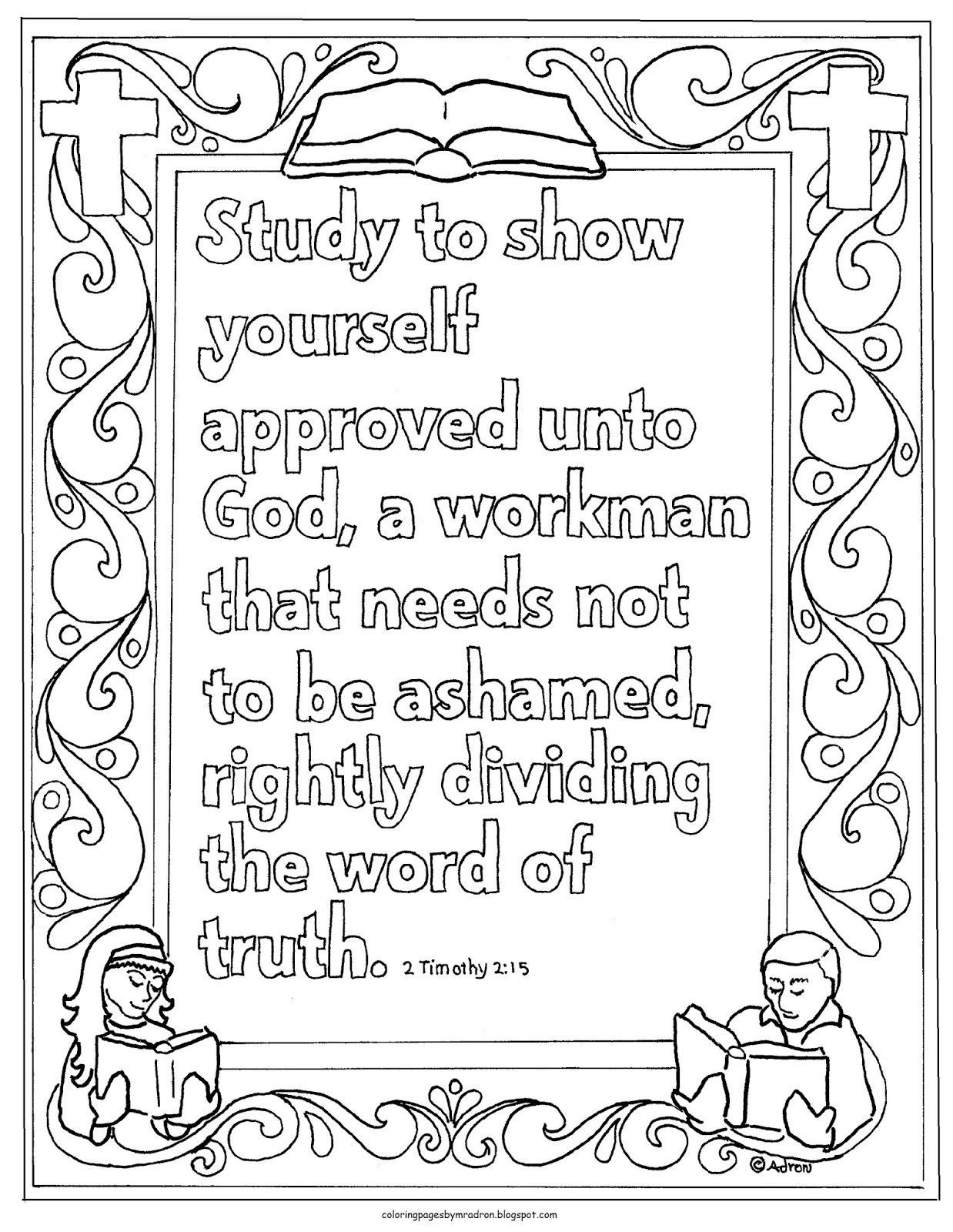 Printable 2 Timothy 3 15 Study To Show Yourself Approved Coloring