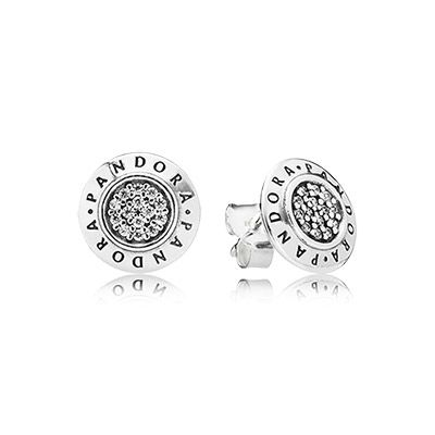 79b9a2e74 PANDORA | PANDORA silver stud earrings with cubic zirconia | Jewerly ...