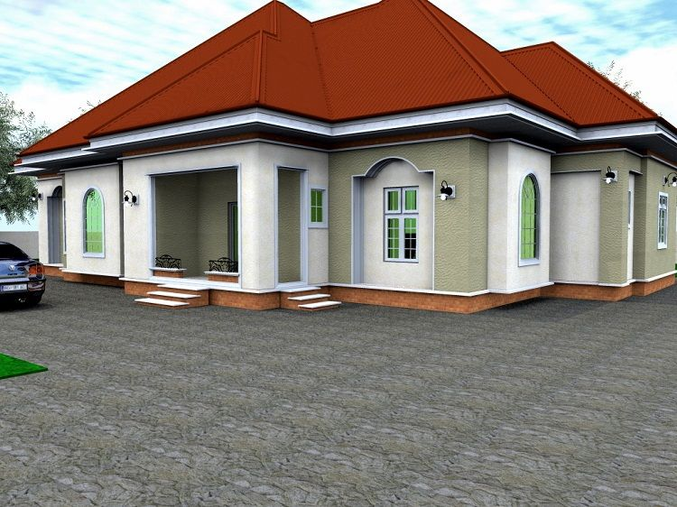 4 bedroom bungalow house design in nigeria best 2017 for Four bedroom bungalow