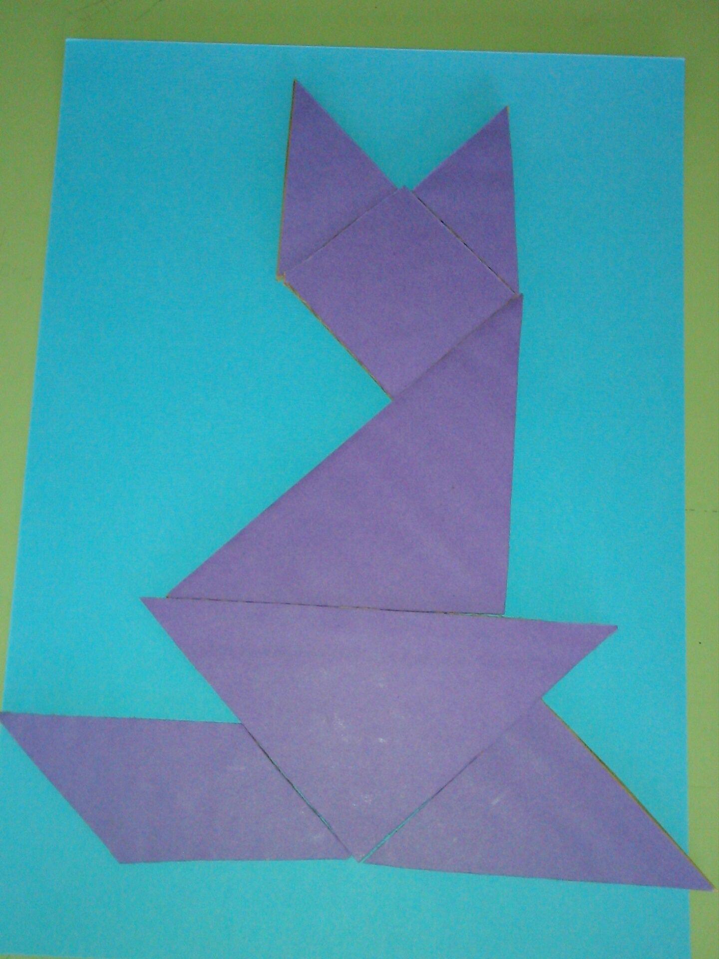 Gato Tetragram | 1D TANGRAM | Pinterest