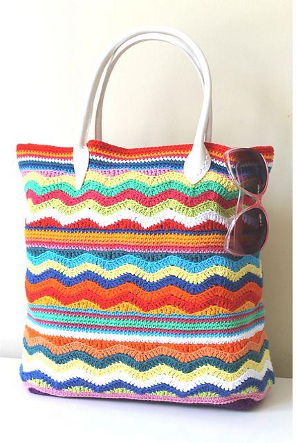 30+ Chevron Crochet Patterns | Häkeln, Körbchen und Häckeln