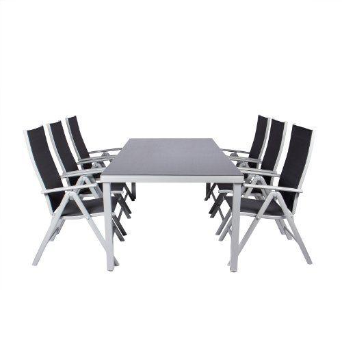 Vanage LP-0036A 7-teilig Alu-Dining-Set Garten- / Sitz-garnitur ...