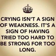 word.... tell this to the peeps who saw me break down last week!