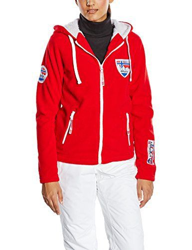 Veste de sport femme rouge