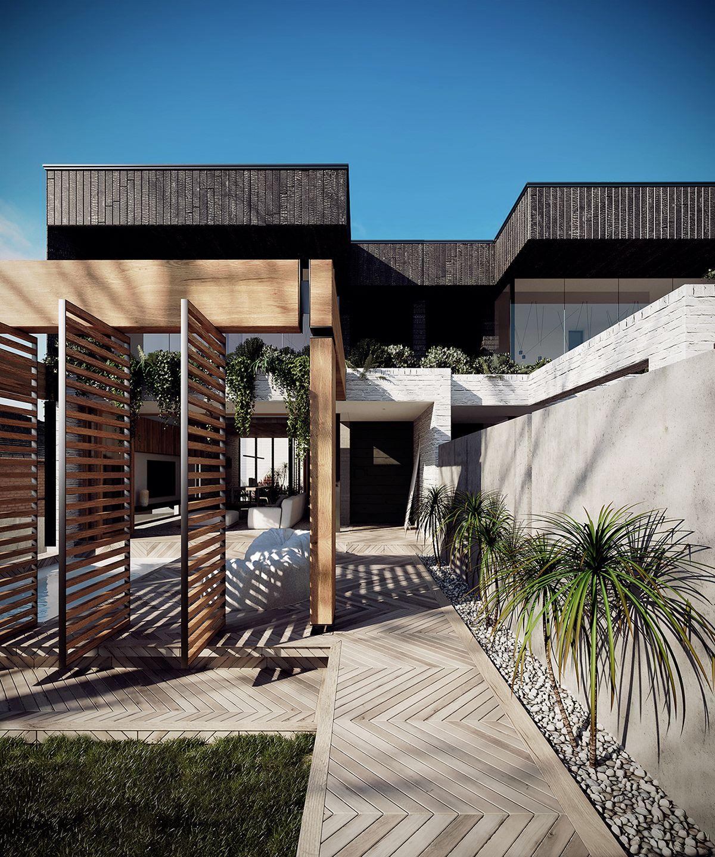 Home Design Ideas Australia: 3d Renderings Of An Australian Duplex House On Behance