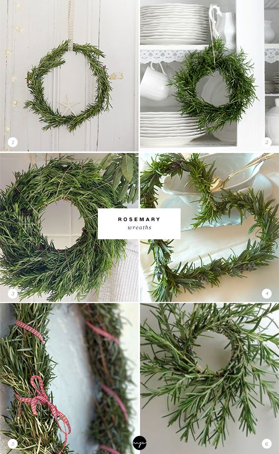 24 ways to decorate with rosemary this holiday #holidaydecor
