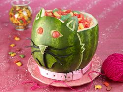 Kitty Cat Watermelon Bowl from Watermelon.org ~ great tutorial ...