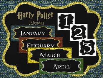 Harry Potter Theme Classroom Calendar Harry Potter Classroom Classroom Themes Classroom Calendar