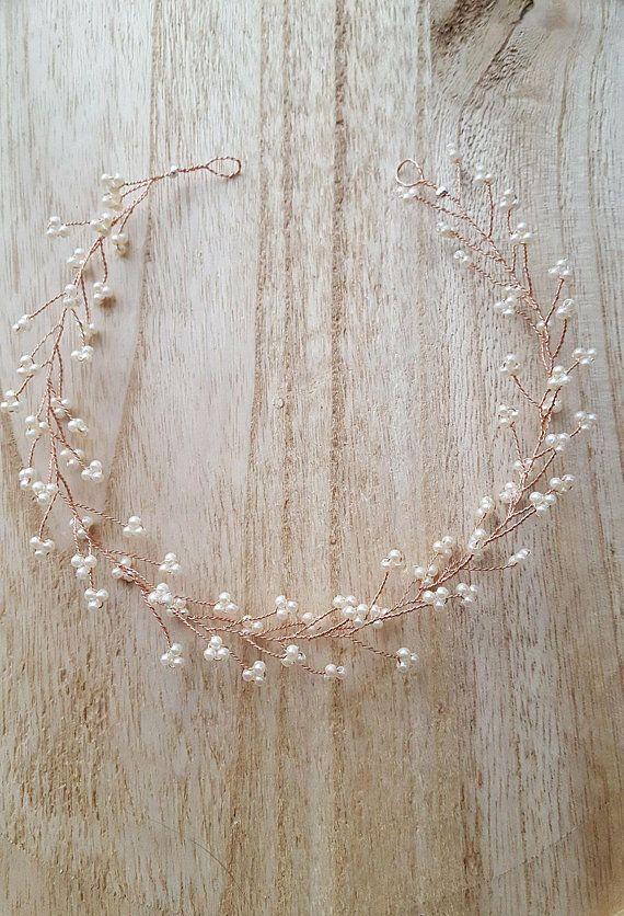 Photo of Decorazioni per capelli guardia perle champagne matrimonio gioielli copricapo capelli comunione capelli maturi
