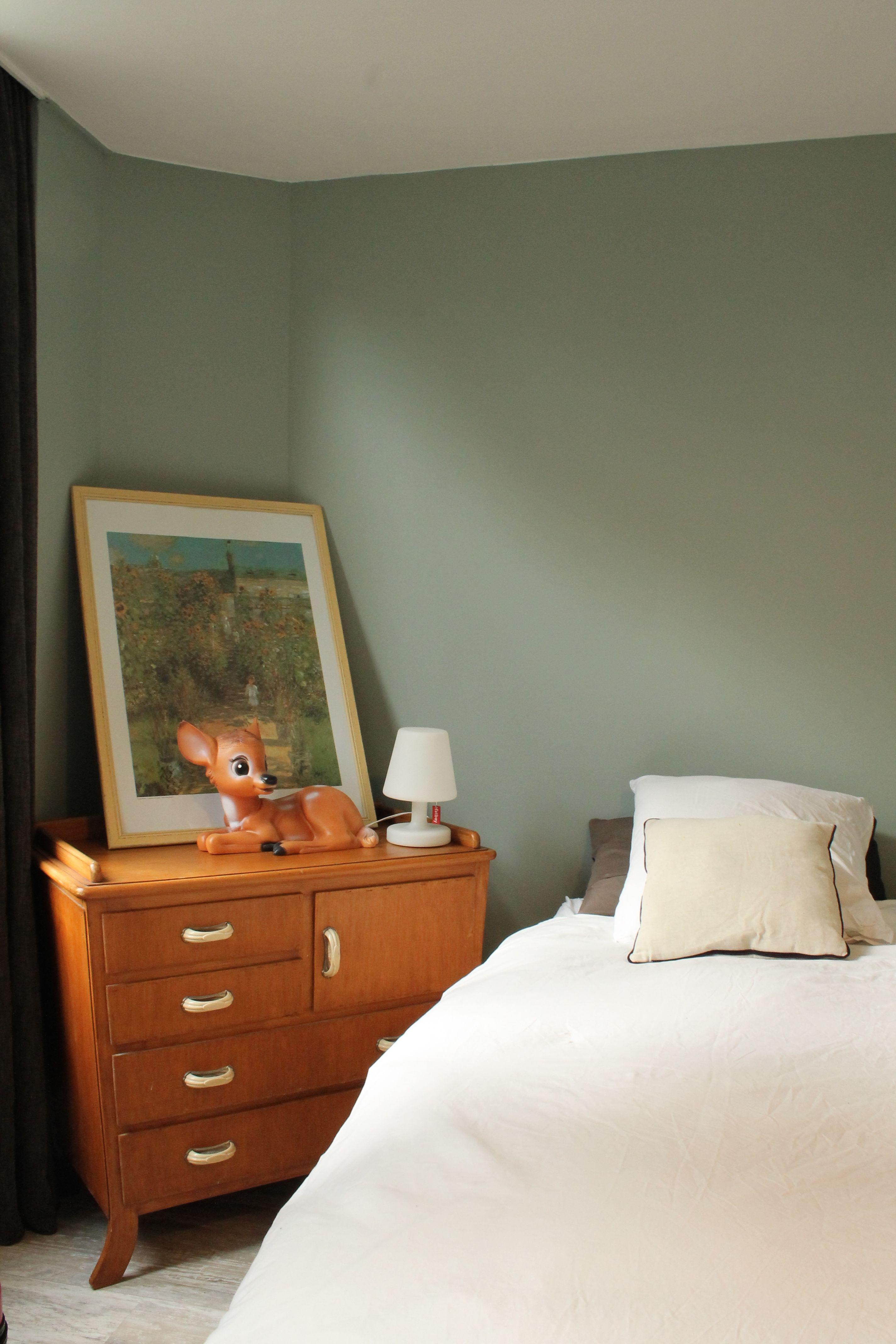 mode vintage Peinture vert de gris lampe bambi