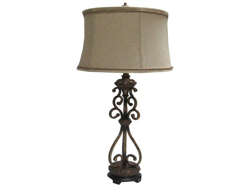 Hobby Lobby Lamp Shades Beauteous Lamp With Scroll Metal Base & Cream Lamp Shade  Shop Hobby Lobby Design Ideas