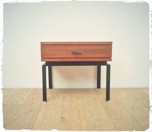 Table De Chevet Vintage Marcel Gascoin Alveole Table De Chevet Vintage Mobilier De Salon Chevet Vintage