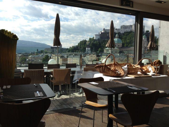 Steinterrasse Cafébarlounge In Salzburg Offers Great Views Of The