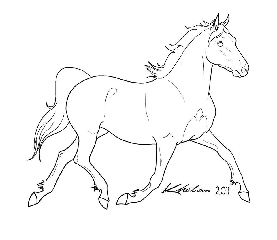 Rearing Horse Lineart Free To Use Download For Full Size Rules Leave My Signature On The Finished Image Horse Coloring Pages Horse Coloring Horse Sketch