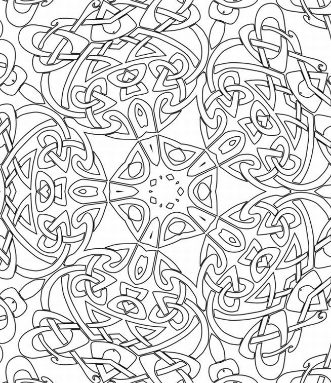 Abstract coloring pages come in a wide range of varieties with ...
