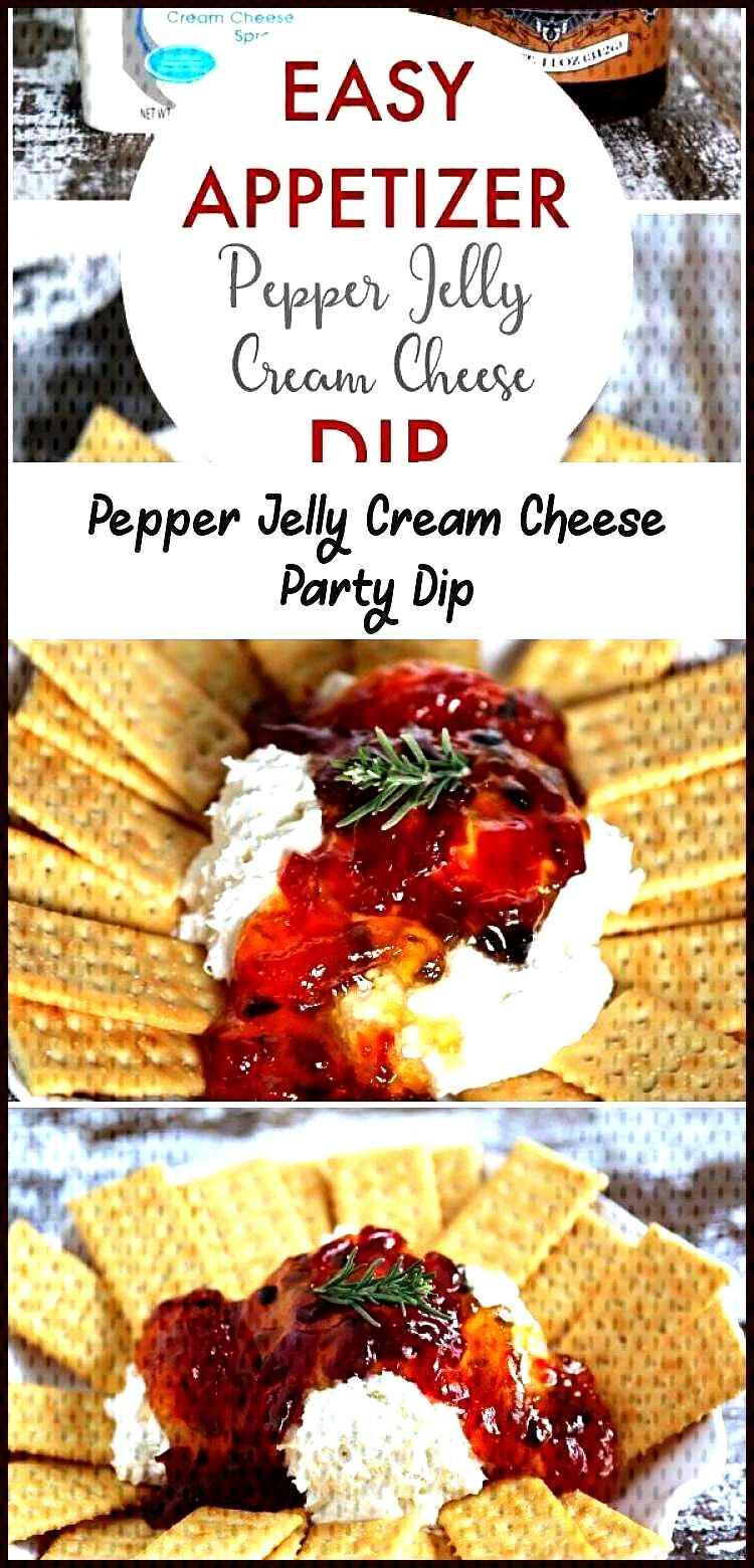 You only need 2 ingredients for this Pepper Jelly Cream Cheese Party Dip. It's a… appetierz dip