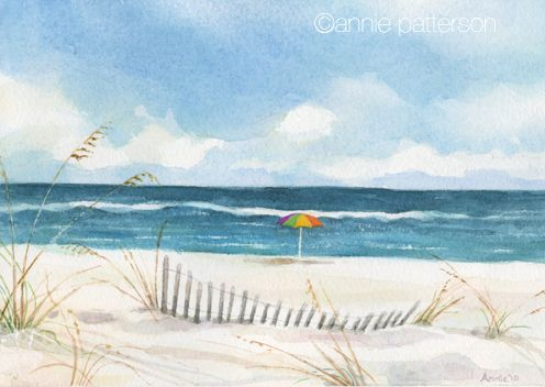 Beach Watercolor And Other News Beach Watercolor Watercolor