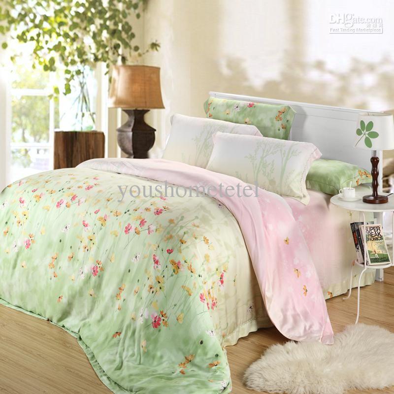 Wholesale Satin jacquard Princess 40s Tencel 4pc bedding set