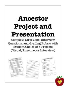 Ancestor Project Presentation And Grading Rubric  Project