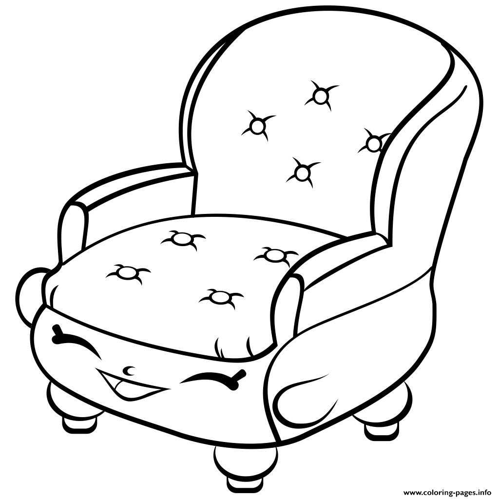Shopkins coloring pages cupcake - Print Chair Shopkins Season 4 Coloring Pages