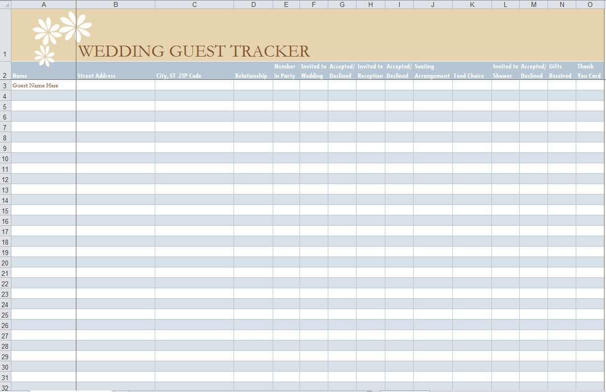 Looking To Manage Your Upcoming Wedding Day Guest List Download