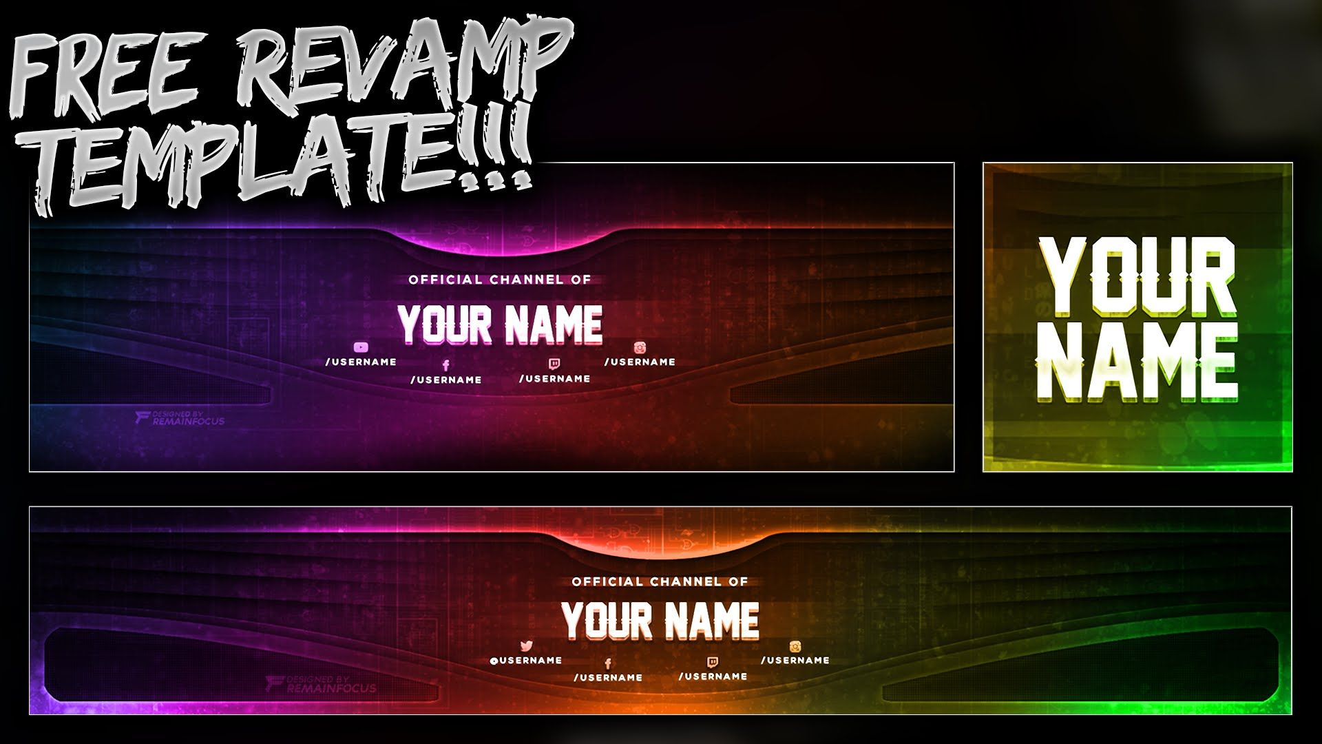 Free Youtube Banner Twitter Header Template Psd Free Download New