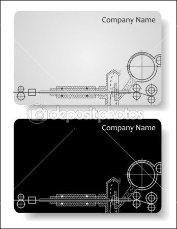 Business Cards For The Engineer Illustration Business Cards Business Card Stock Business Card Inspiration