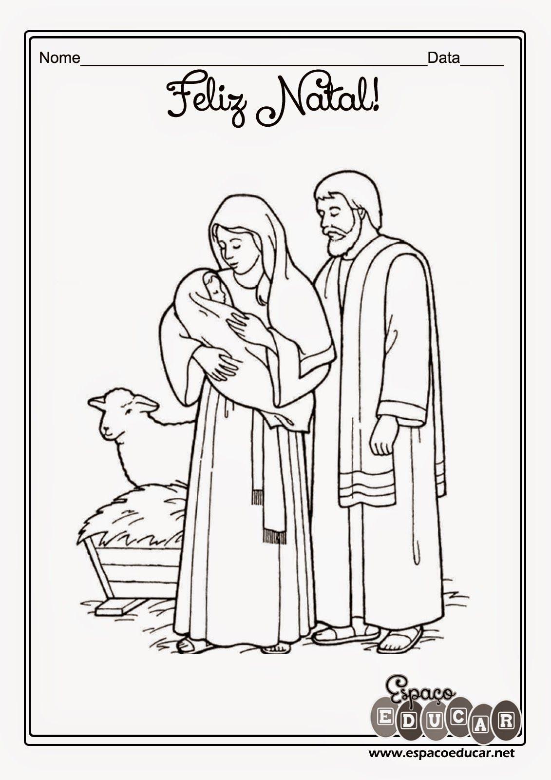 Desenhos Do Nascimento De Jesus Para Colorir Imprimir Ou Utilizar