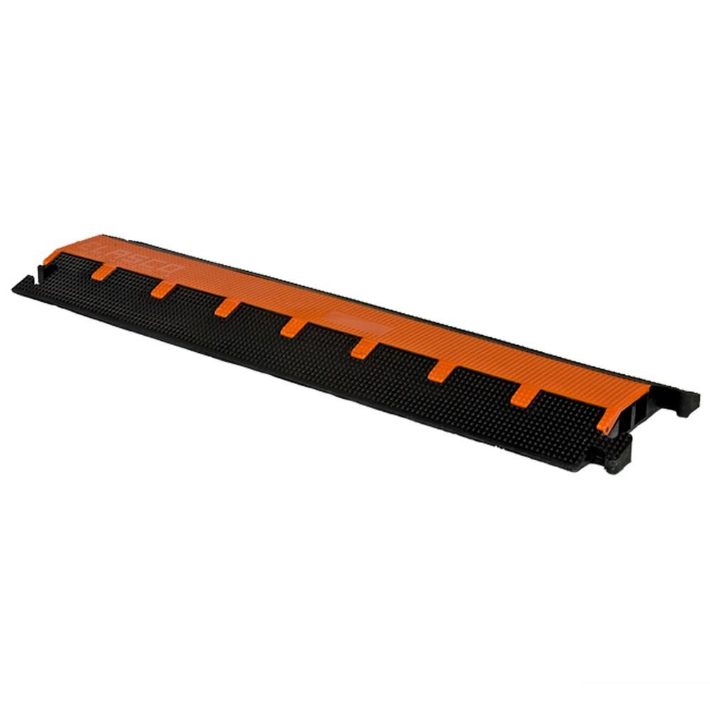 Elasco 1 25 In 2 Channel Cable Protector Black Orange Cord Protector Organizing Wires Conduit Box