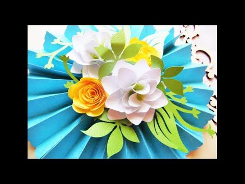 Diy Hanging Paper Rosette With Diy Paper Flowers Youtube Paper