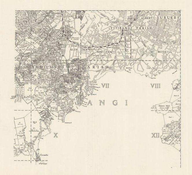 Titirangi Survey District map c.1920.   West Auckland Maps ...