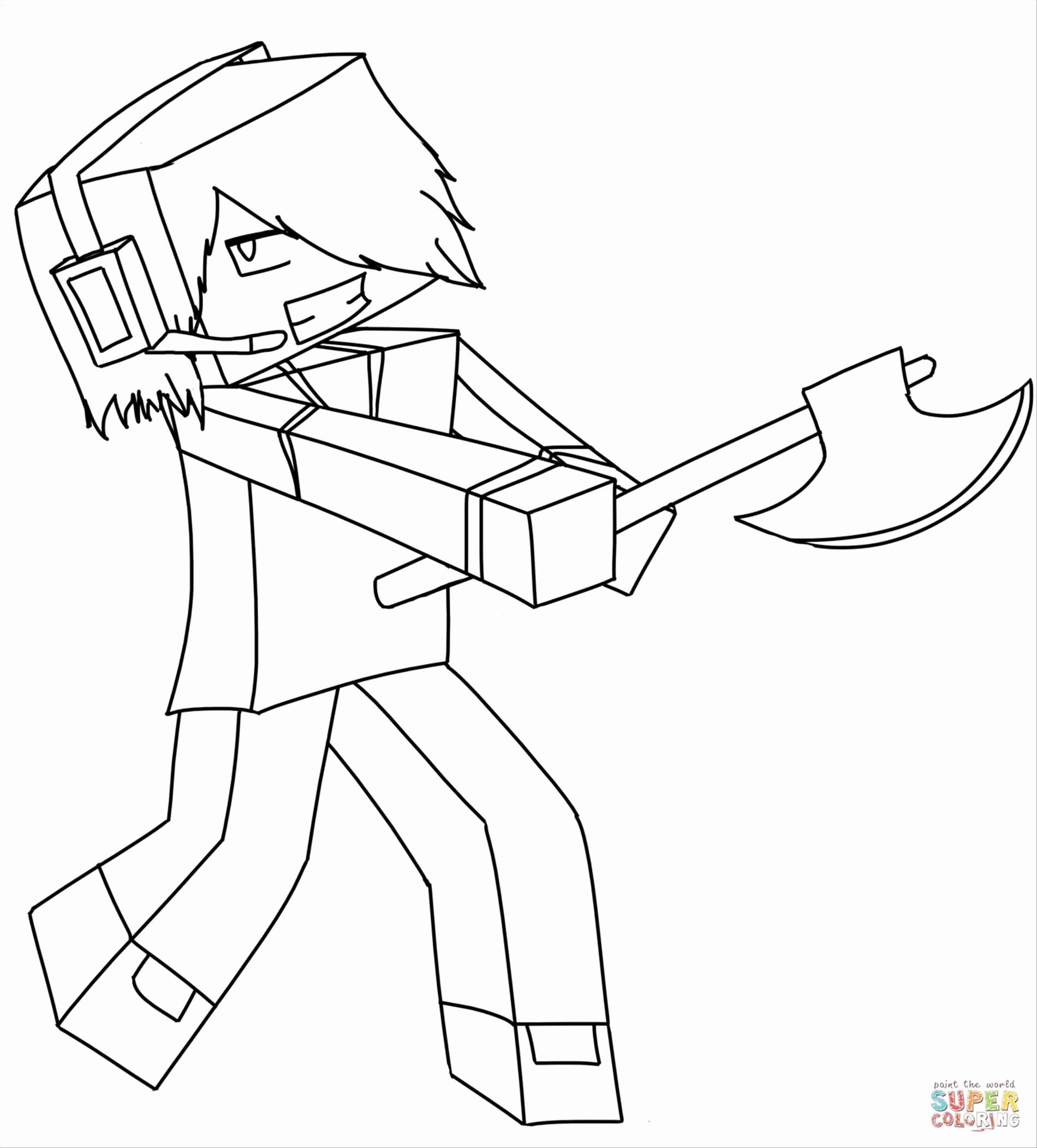 Minecraft Steve Coloring Page Lovely Minecraft Diamond