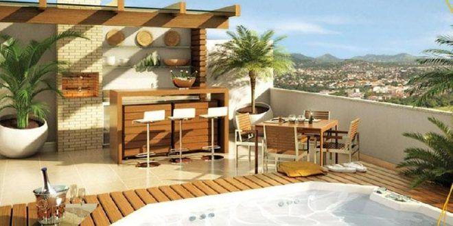 Terrazas modernas con jacuzzi hoy lowcost barbacoas en - Jacuzzi para terrazas ...