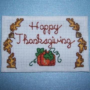 Happy Thanksgiving Cross Stitch Magnet Autumn Cross Stitch Patterns Cross Stitch Cross Stitch Patterns