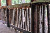 Front porch, log cabin