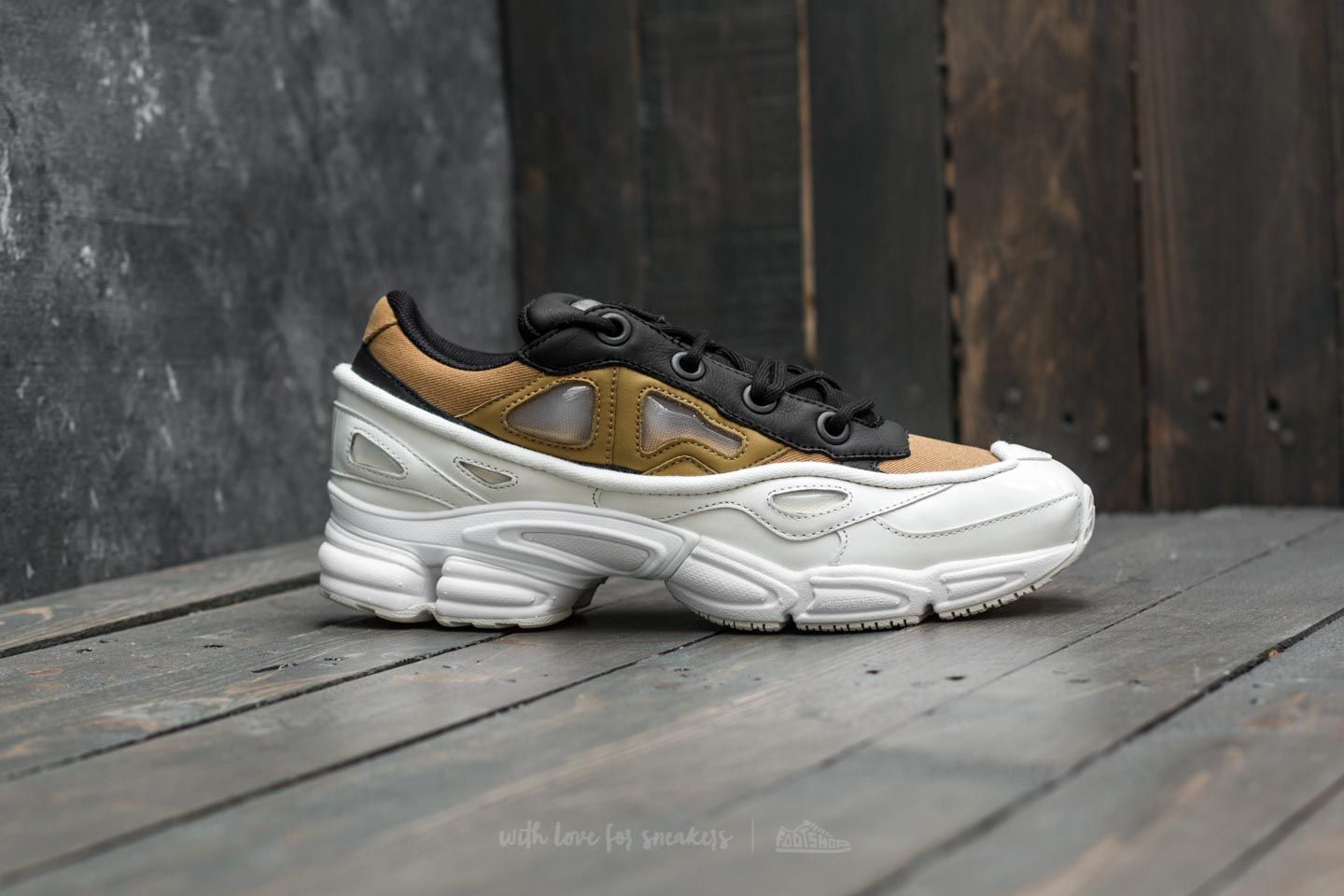 the best attitude c0a96 4fc56 adidas x Raf Simons Ozweego III Ftw White  Khaki  Core Black at a great