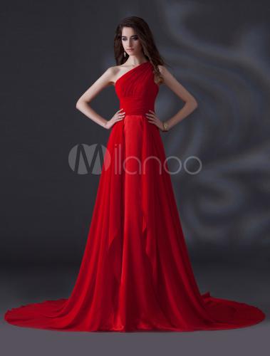 Vestidos de dama de honor rojos
