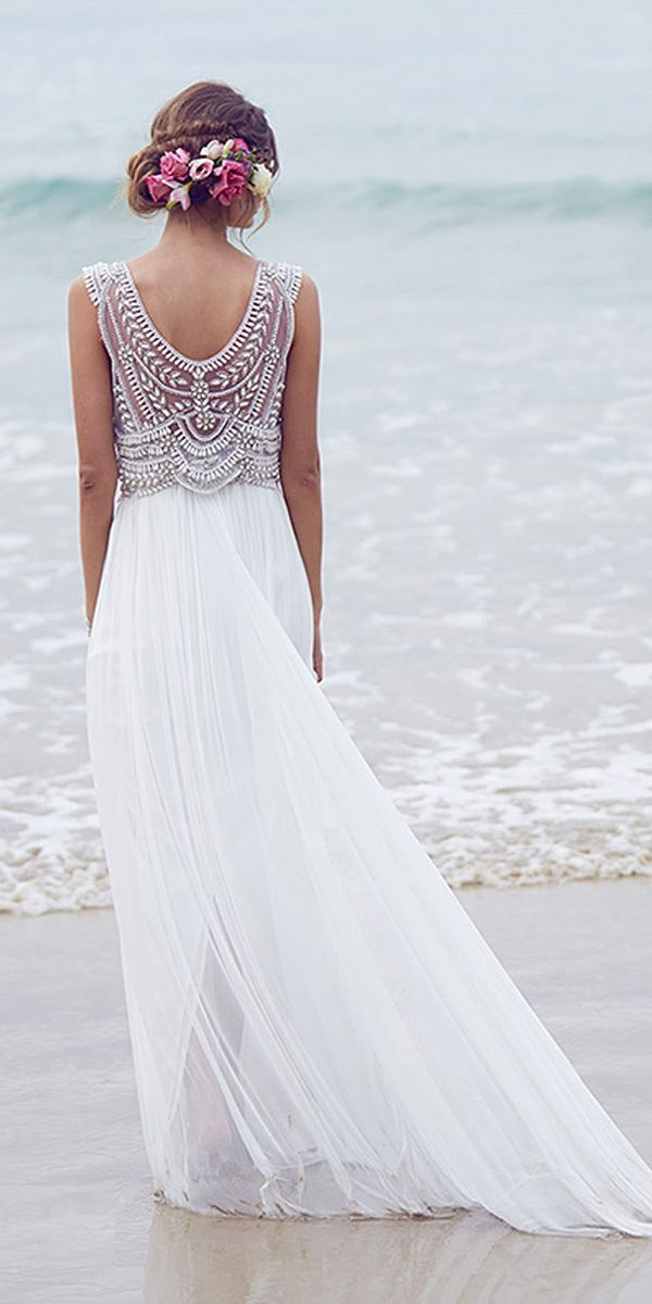 6547cf808a 51 Beach Wedding Dresses Perfect For Destination Weddings ...