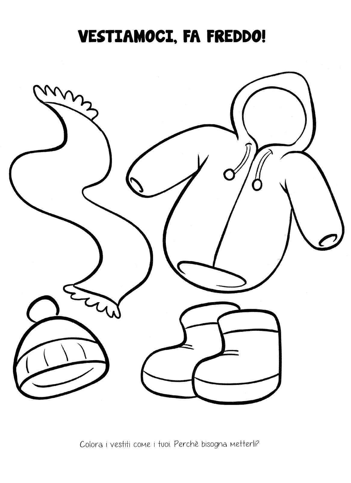disegni da colorare inverno scuola materna