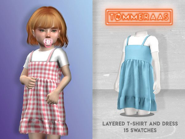 TØMMERAAS' Layered T-Shirt and Dress