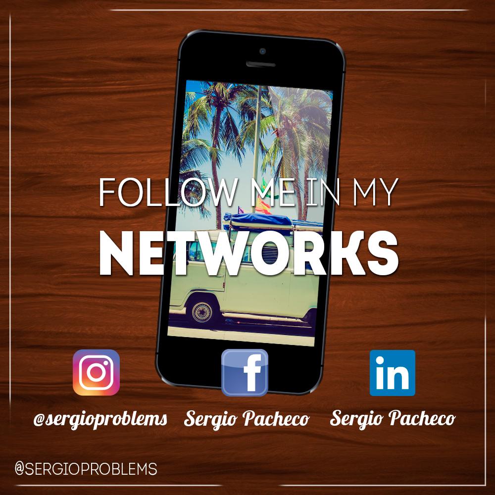 Date una vuelta por mis redes sociales, y disfruta de mi trabajo viendo mi cuenta de Instagram, @sergioproblems