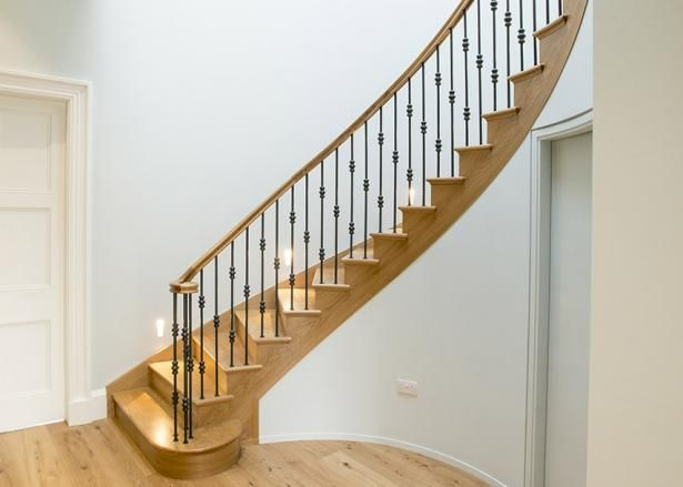 Best Helical Staircase Timber Handrail Victorian Homes Stairs 400 x 300