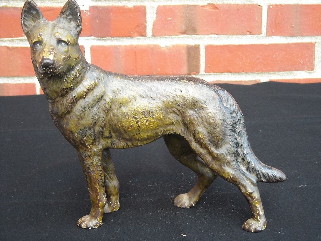 Hubley German Shepherd Cast Iron Door Stop-Investment! from  7thheavenantiques on Ruby Lane - Hubley German Shepherd Cast Iron Door Stop-Investment! From