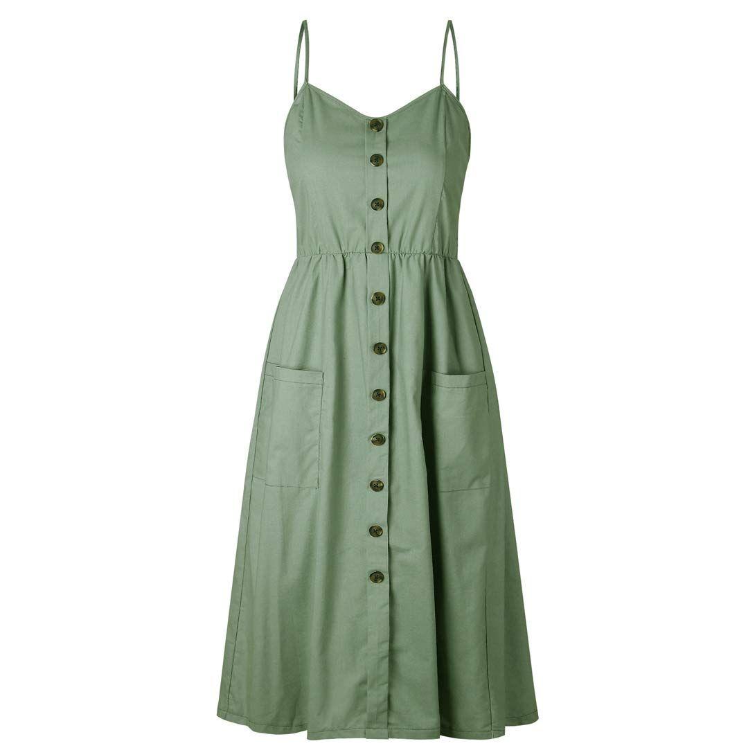 Everich Womens Dresses Spaghetti Pockets Casual Summer Dresses Summer Dresses For Women Summer Dresses [ 1080 x 1080 Pixel ]