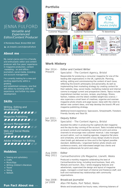 editor and content writer Resume example | προσωπικες | Pinterest ...