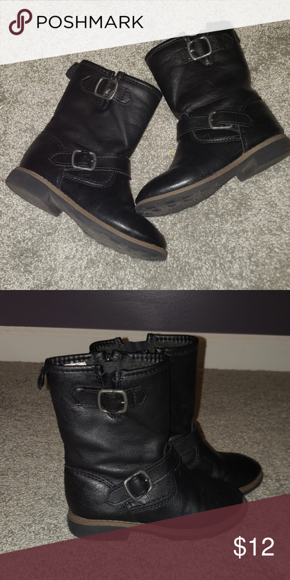 32ebce31b8349 Carter's black riding boots Super cute girl's riding boots with buckles  Great with leggings and dresses Great condition Smoke free, pet friendly  home ...