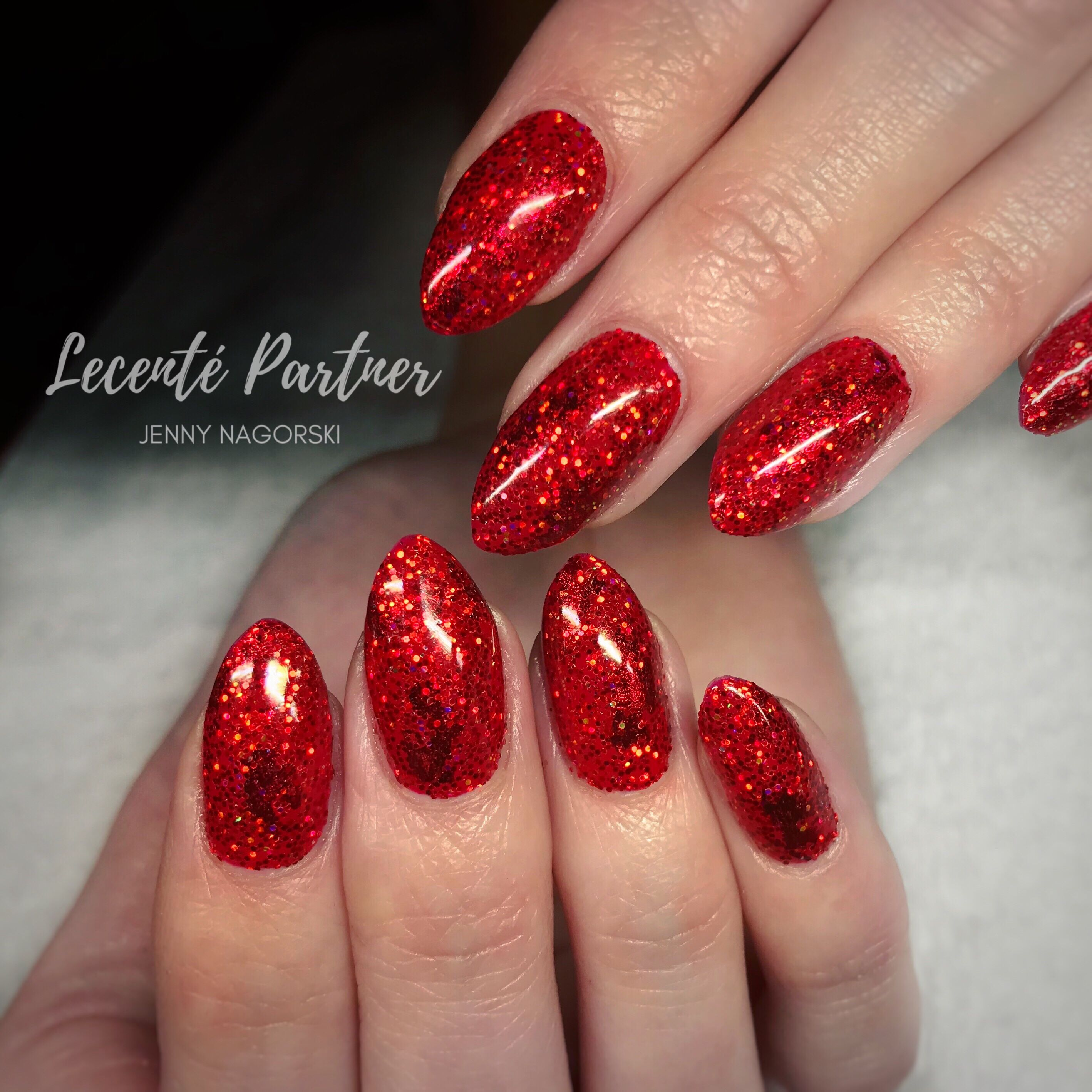 Lecenté Red Foil, Deep Red Holo glitter and Apple Red Iridescent ...