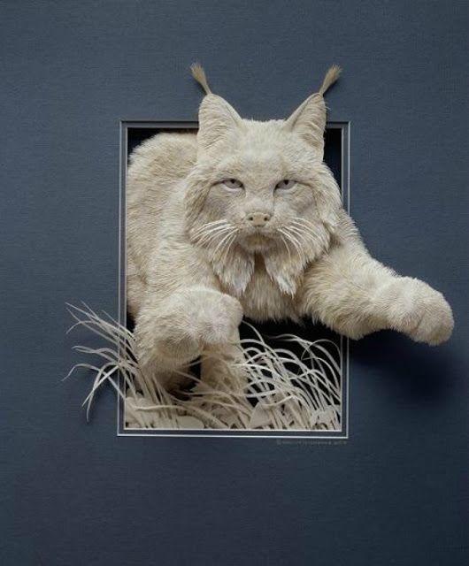 Wildlife Paper Sculpture by Calvin Nicholls | Inspired!