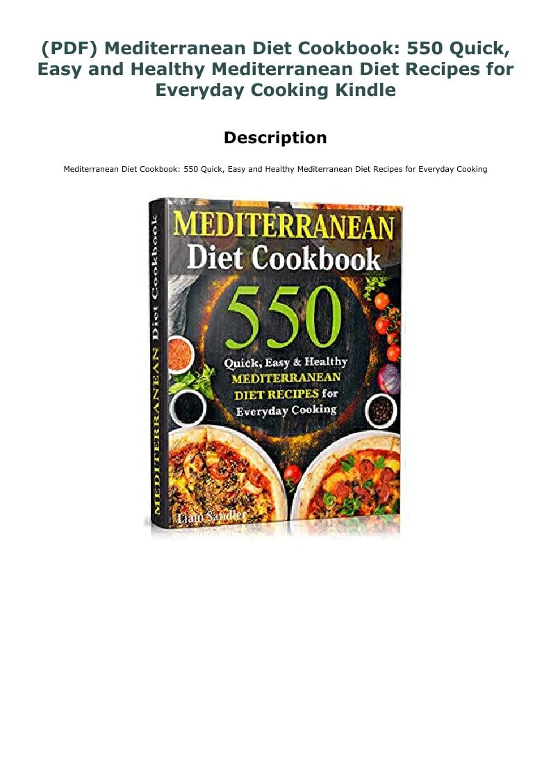 Pdf Mediterranean Diet Cookbook 550 Quick Easy And Healthy Mediterranean Diet Recipes For Everyday Cooking Kindle